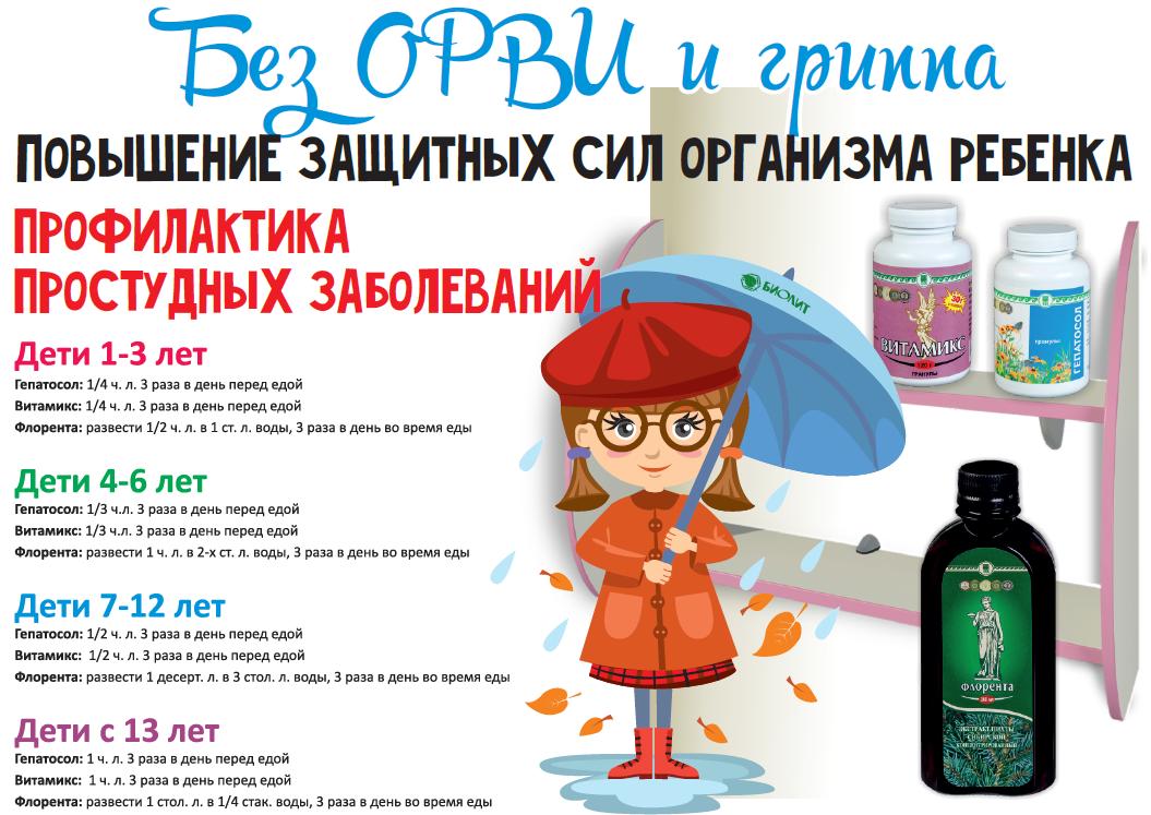 Повышение защитных сил организма ребенка. Профилактика простудных заболеваний