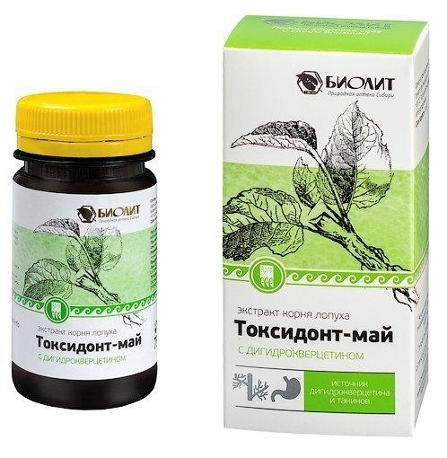 Токсидонт-май (экстракт корня лопуха) с дигидрокверцетином