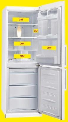 Использование ЭМ-пластин в холодильнике