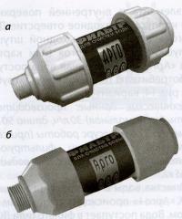 10 а, б. Варианты фильтр-насадки «Арго-душ»