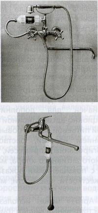 Рис. 12. Варианты подключения фильтра-насадки «Арго-душ»