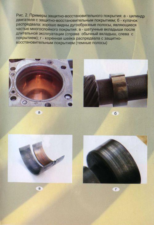 Рис.2. Примеры защитно-восстановительного покрытия