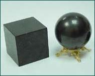 Шунгитовые куб и шар