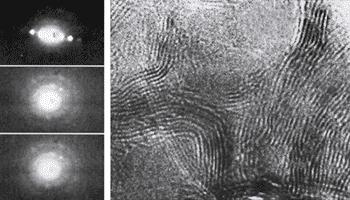 Нанодифракционная картина шунгитового углерода