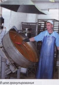 В цехе гранулирования