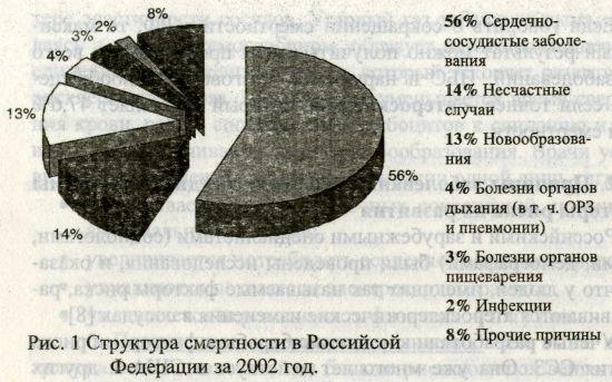 Структура смертности в Российской Федерации за 2002 год