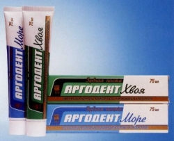 Состав зубных паст серии «Аргодент»