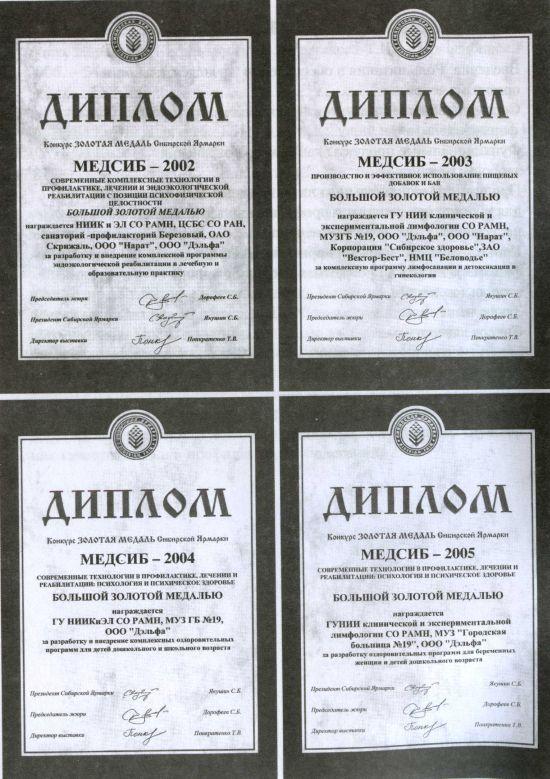 Дипломы МедСиб