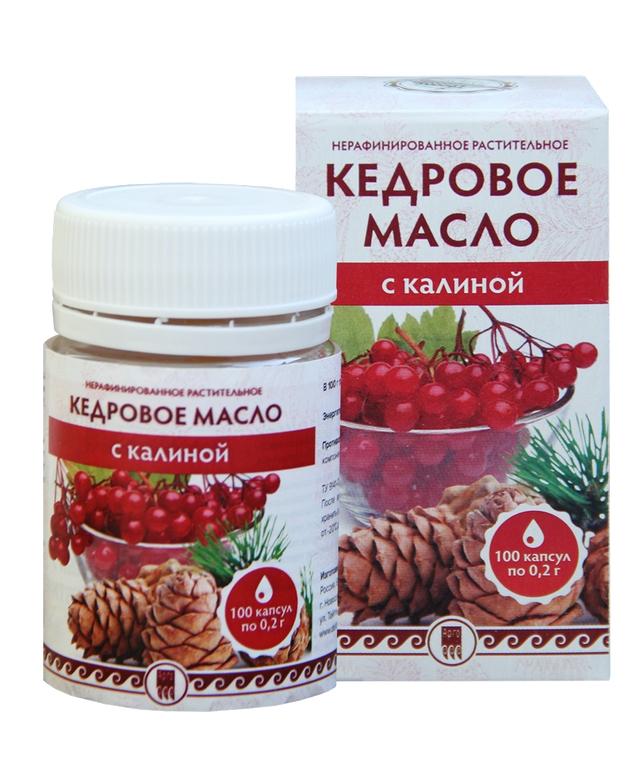 Кедровое масло с калиной (с витамином Е)