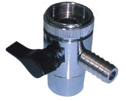 Купить Дивертор верхний металлический с муфтой  для внешнего фильтра (код 9576), цена